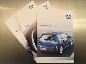 Mazda 3 Brochures X3 SET -  Including Price List - 2004 - First generation