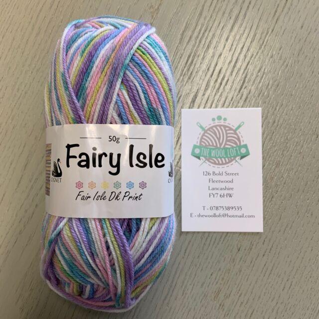 Blue 5091 Cornflower 50g Fairy Isle DK Prints by Cygnet Yarns Ltd