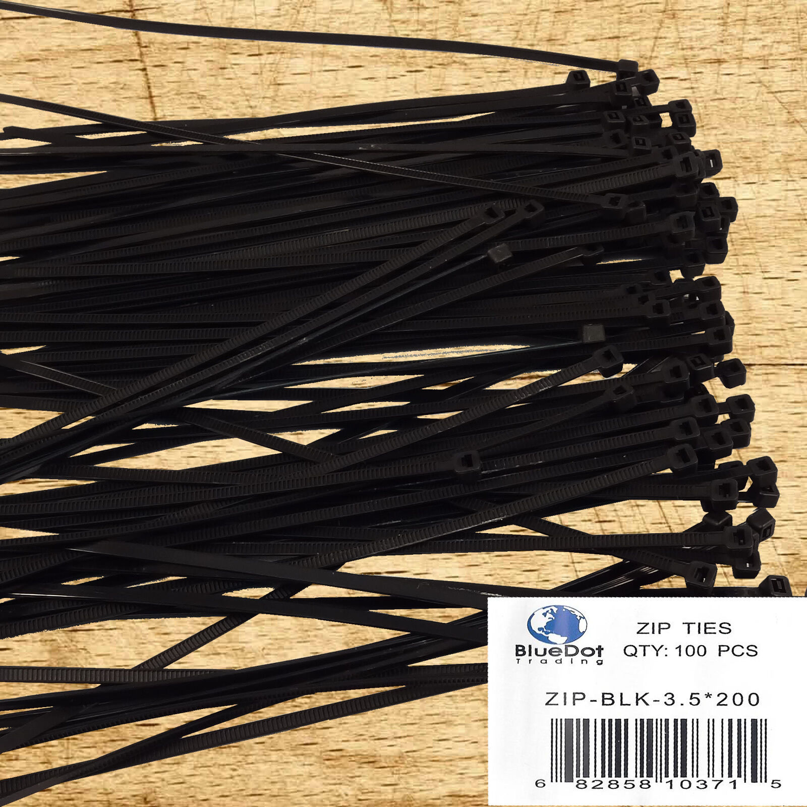 """8/"""" Inch Nylon Cable Zip Wire Tie 120 lbs Natural White 100 Pack Lot Pcs Qty"""