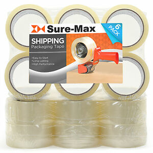 18 Rolls Clear Box Carton Sealing Packing Tape Shipping 2 mil 2 x 55 Yards