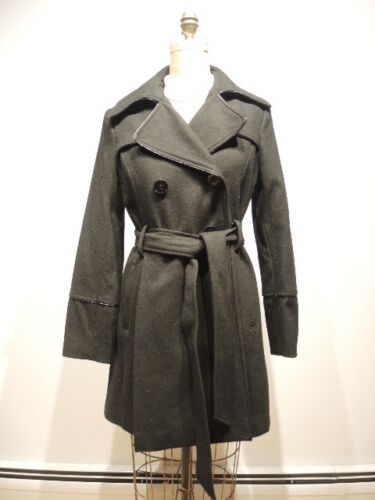 Coat Belted Was 400 Black Wool Double Women's West Breast Nine Size 4 vSYR6q7