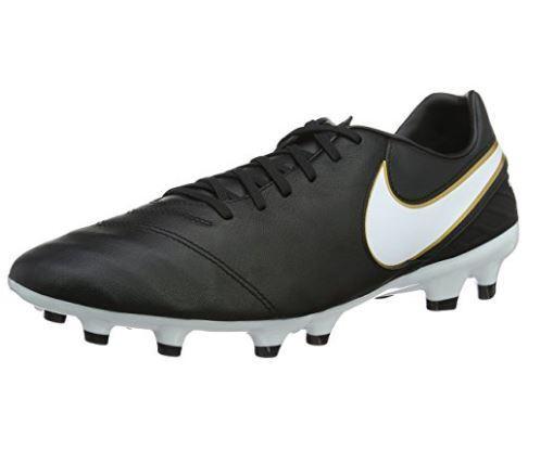 Nike Tiempo Mystic V FG Soccer cleat negro 819236 / blanco oro metalico 819236 negro 010 504e48