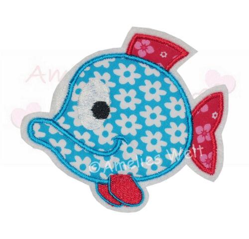Fisch Applikation Aufbügler Aufnäher zum aufbügeln stickapplikation