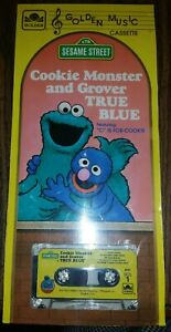 Details About 1983 Sesame Street Cassette Tape Cookie Monster And Grover True Blue New
