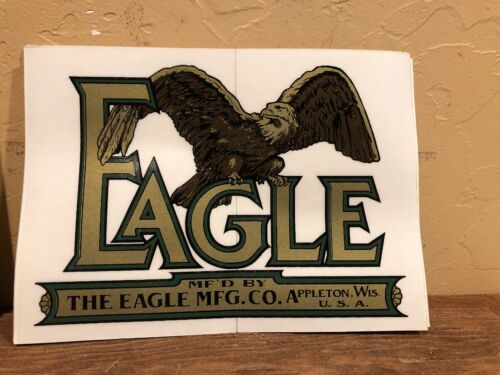 Appleton Wis Vintage Antique Replica Eagle Mfg Co Tractor Stickers// Decals