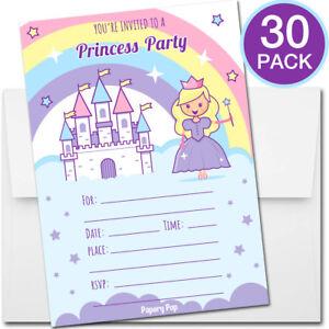 30 princess birthday invitations with envelopes kids birthday image is loading 30 princess birthday invitations with envelopes kids birthday filmwisefo
