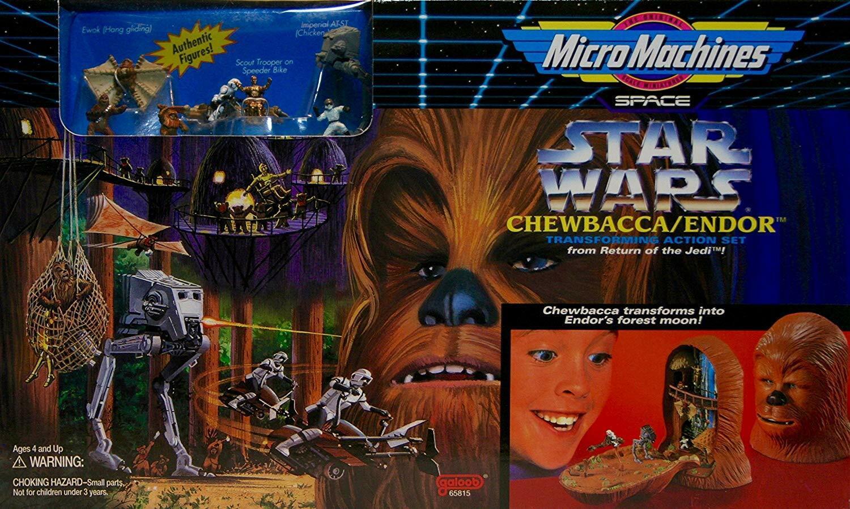 Mikromaskiner stjärnornas krig Chewbacca  endor spelastat