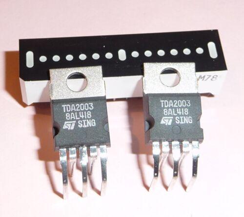 2x org STM TDA 2003 liegend Verstärker Audio IC Industrieware DIY Aktivbox usw