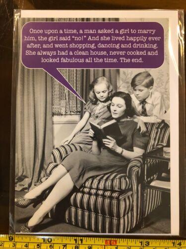 Le mariage a dit Pas de femmes heureux la fin drôle carte vierge neuve avec enveloppe