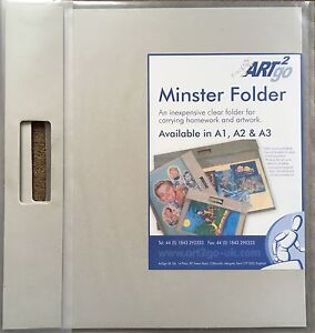 Minster Art2go A3 clear art folder with handle x 2 - <span itemprop=availableAtOrFrom>Newton Abbot, United Kingdom</span> - Minster Art2go A3 clear art folder with handle x 2 - Newton Abbot, United Kingdom
