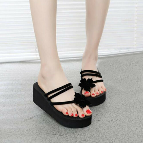 Womens Bow Knot Summer Flip Flops Flat Thongs Clear Transparent Sandals Slippers