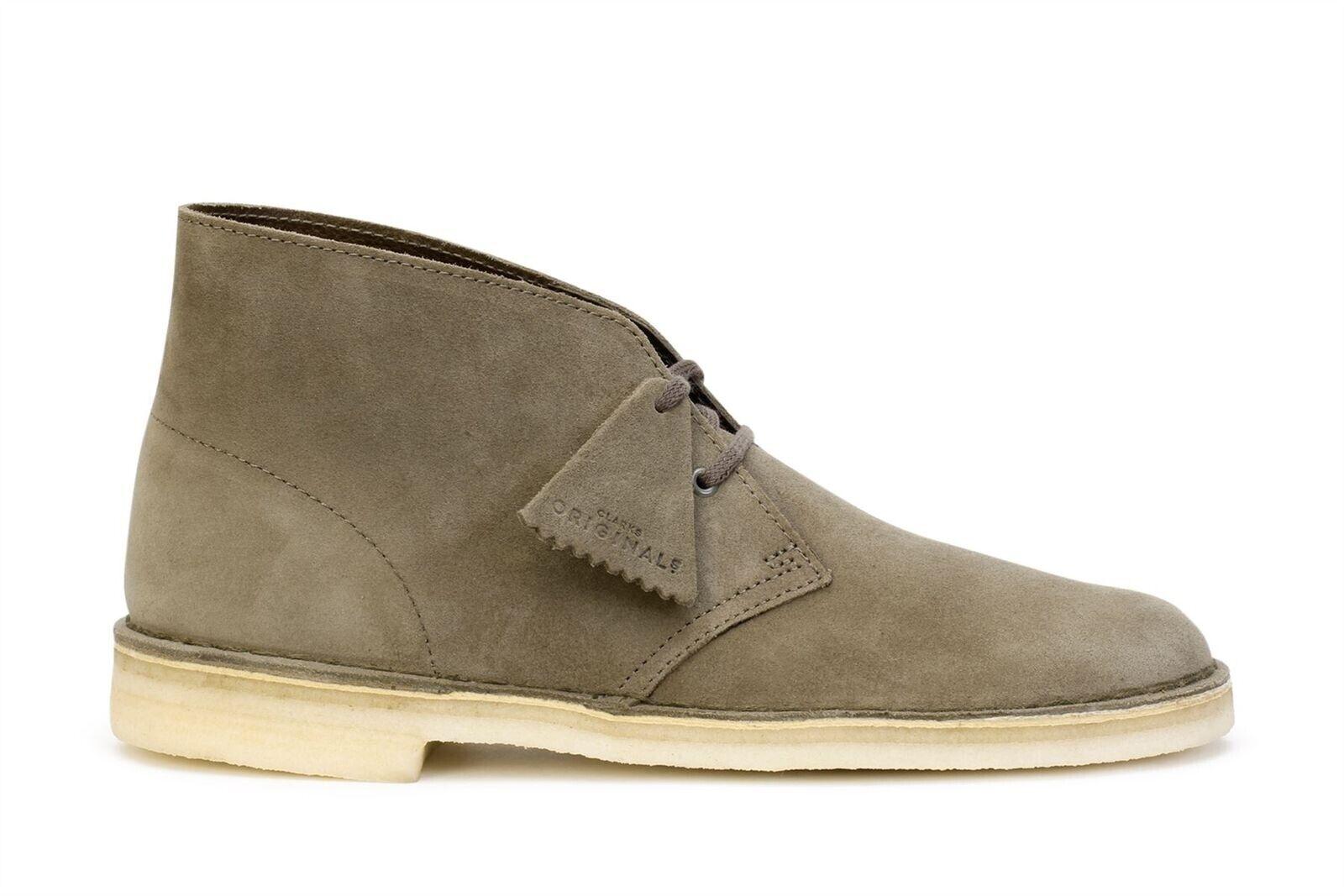 Clarks Originals Desert Boots Men's Olive Suede 26138234