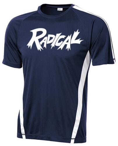 Radical Men/'s Slash Performance Crew Neck Bowling Shirt Dri-Fit Navy White