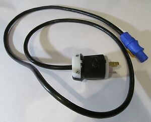 NEUTRIK POWERCON NAC3FCA CONNECTOR POWER CORD W/HUBBELL 20A 125V TWISTLOCK PLUG