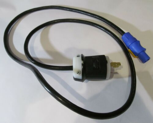 NEUTRIK POWERCON NAC3FCA CONNECTOR POWER CORD W//HUBBELL 20A 125V TWISTLOCK PLUG