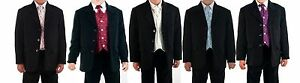 Boys-suits-5-piece-costume-noir-mariage-pageboy-formal-party-5-couleurs-0-3m-14Yrs