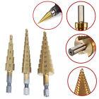 3pcs Large HSS Steel Step Cone Drill Titanium Bit Set Hole Cutter 3-4/12/20mm