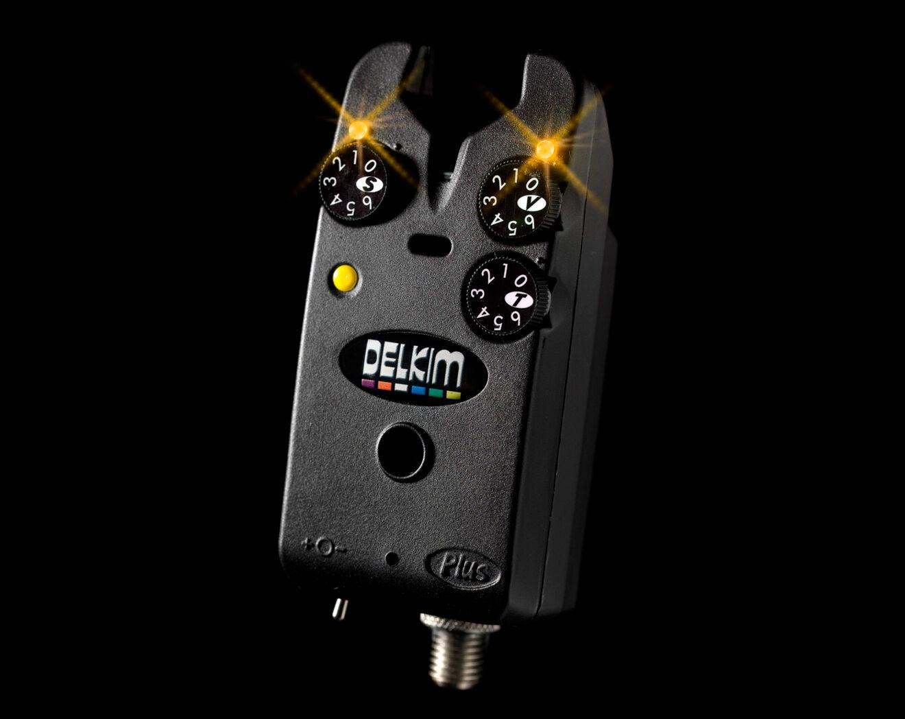Delkim Standard Plus Elektronischer Bissanzeiger Gelb Karpfenangeln Ausrüstung