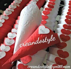 100 coni portariso confetti nozze matrimonio eventi MONTATI colorati