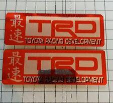 toyota racing development sticker decal celica supra trd red