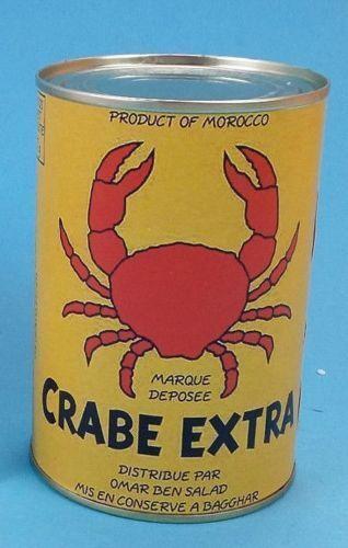 Boite de Crabe TINTIN Le Crabe aux pinces d'or 11 x 7,5 cm Neuve .
