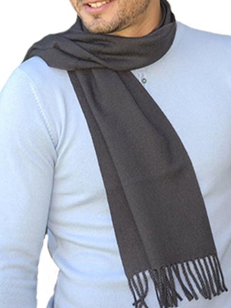 Balldiri 100% Cashmere Kashmir SCIARPA 200 x 35 cm 4-fädig tessuti ANTRACITE