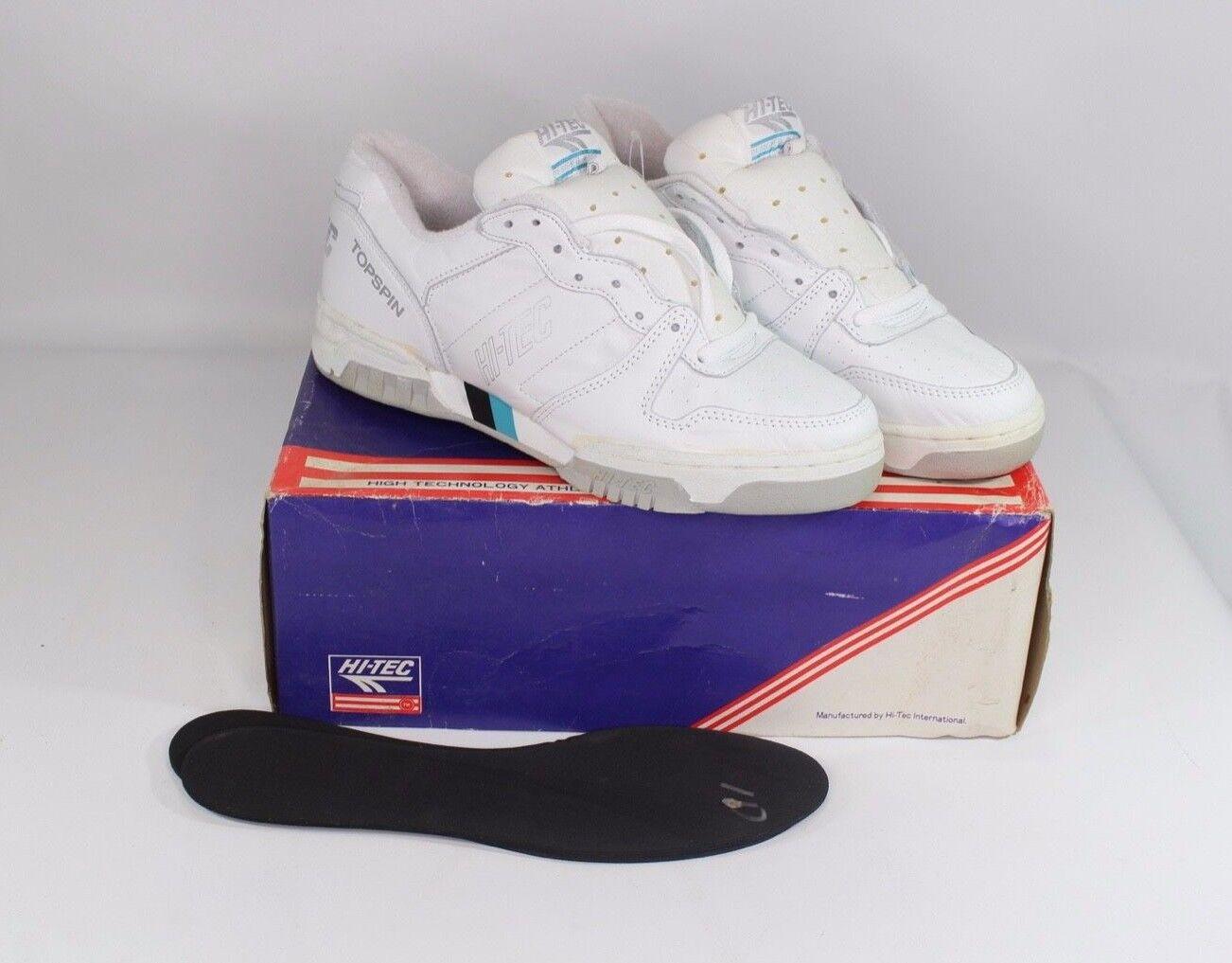 Vintage 90s Nuevo Hi Tec Para hombre 12 Topspin Tenis Zapatos Tenis Atléticas con forro de Terry