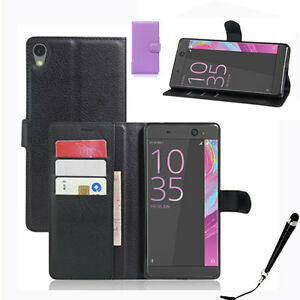 info for f682f 5831d Details about HQ Wallet Money Card Leather Case Cover Sony Xperia XA Ultra  / F3215 + Stylus