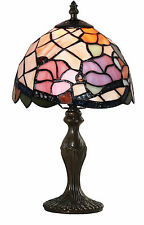 TIFFANY STYLE UNIQUE STAINED GLASS DESK LAMP - 7.87'' WIDE