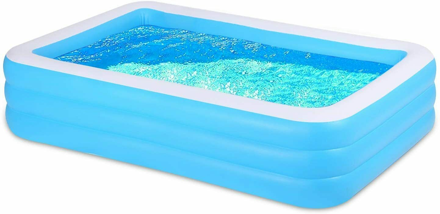 Inflatable Swimming Pool 3-tier Above Ground Rectangular Pool 83