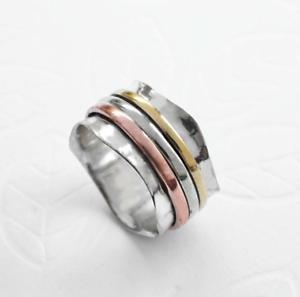 Solid-925-Sterling-Silver-Spinner-Ring-Meditation-Ring-Statement-Ring-Size-sr205