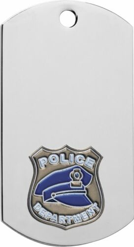 "Free engraving 39618 2/"" Police Dog Tag award on 30/"" Chain or 1/"" key ring"