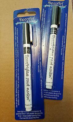 Black DecoArt DGPM14-K Glass Paint Marker
