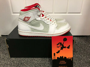 Nike-Hare-Jordan-1-Mid-Limited-Edition-Bugs-Bunny-White-Grey-Red-UK-9