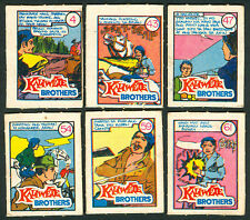 6 Vintage EXOTIC KALIWETE BROTHERS Philippine TEKS / Trading Comic Cards 1