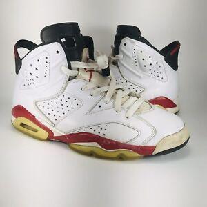 4ceb14937251f9 Nike Air Jordan VI 6 Retro Bulls White Varsity Red Carmine 384664 ...