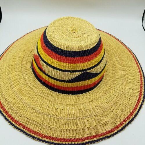 Wide Brim Straw Hat - image 1