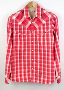 Levi-039-s-Strauss-amp-Co-Hombre-Camisa-Casual-de-Cuadros-Talla-M-RZ528