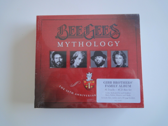 Bee Gees: Mythology, rock, Box med 4 cd'er. Ubrugt i…