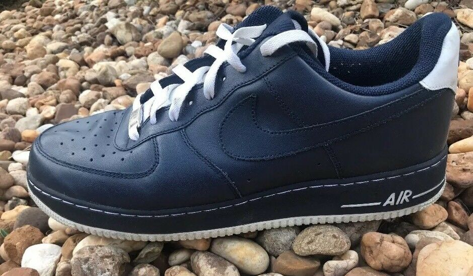 Nike Men's Air Force 1 Sneakers Navy Blue & White Size 14