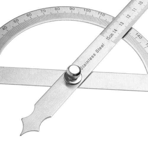 180 Grad 150MM Winkelmesser Finder Dreh Winkel Lineal Messwerkzeug Edelstahl DHL