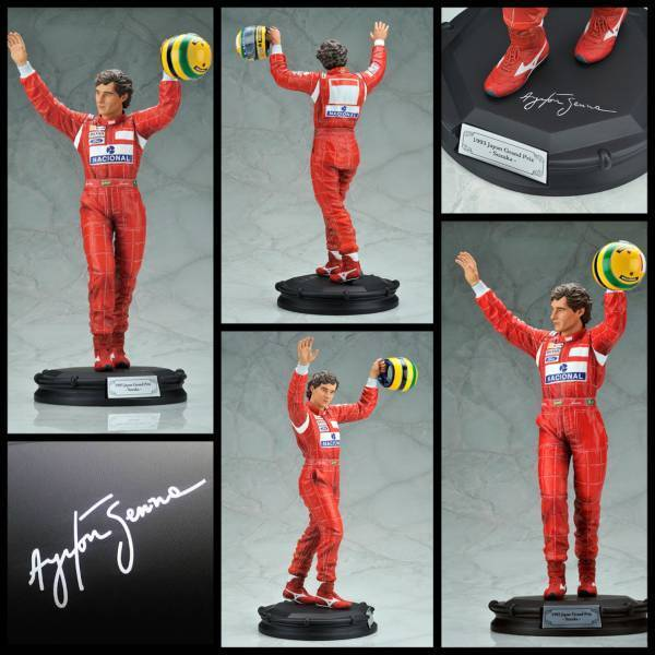 New New Ayrton Senna 1 6 Fine Art Statue Figure KOTOBUKIYA Rare