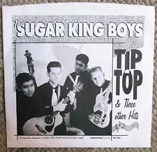 """Sugar King Boys Tip Top 7"""" 45 rpm 4 Song EP Wormtone Records Clear Vinyl Clean"""