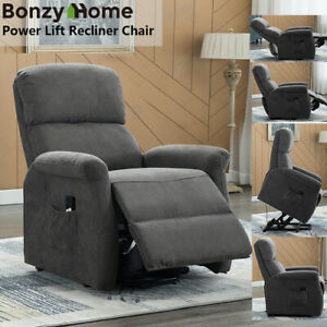 Power-Lift-Recliner-Chair-Sofa-Upgraded-Motor-Anti-skid-Fabric-w-RC-for-Elderly