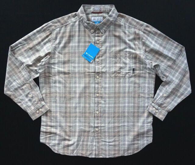 646b96eba31 Columbia Nwt Cooper Lake Pixel Ombre Cotton Button Down Plaid Shirt 1X 2X 4X