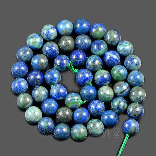 Natural LAPIS CHRYSOCOLLE pierre gemme lisse ronde Spacer Loose Beads 15.5/'/'
