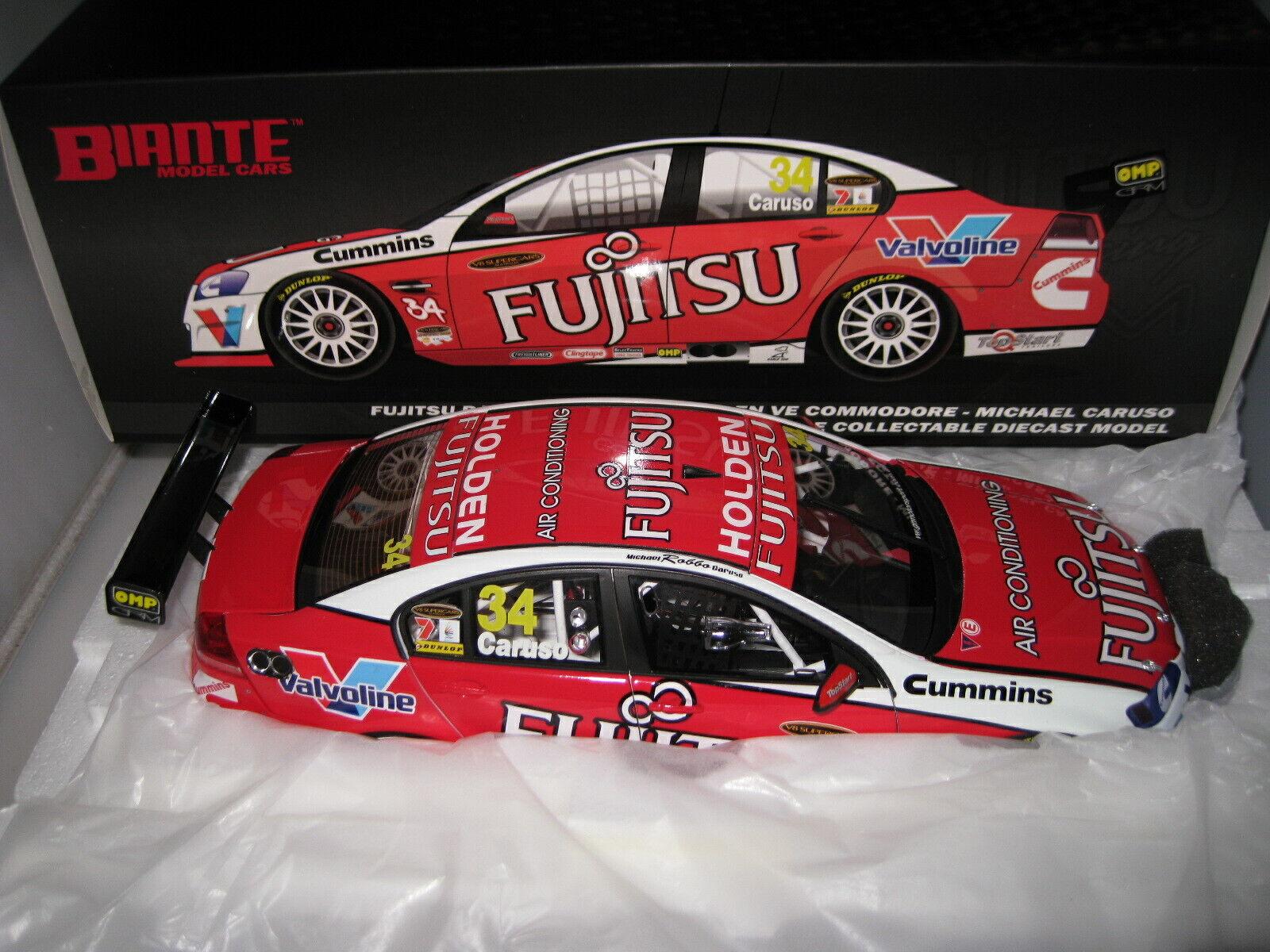 1//18 BIANTE 2010 HOLDEN VE COMMODORE V8 SUPERCAR FUJITSU GRM #34 CARUSO #B18301S