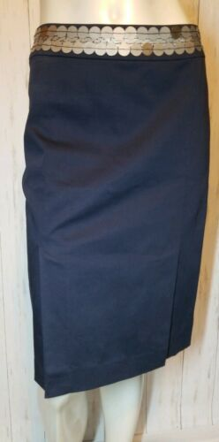 Tory Burch EUC Navy Double Slit Pencil Skirt with