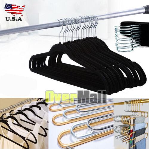 50Packs Velvet Clothes Suit// Shirt// Pants Hangers Hook Non Slip Storage Organize
