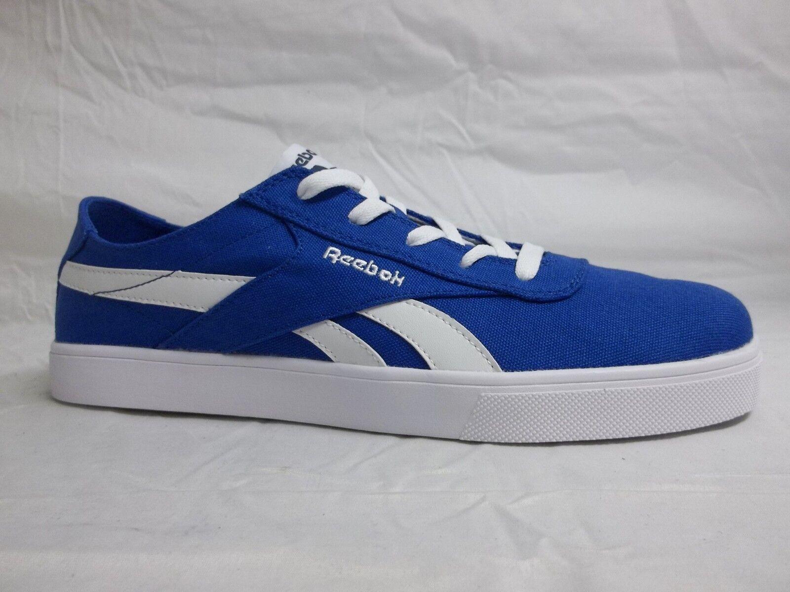Reebok Size 9.5 M Royal Global Vulc Royal Blue Low  New Uomo Shoes NWOB